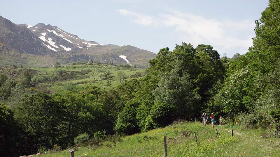 Arapaho en famille - Descente - Bureau des Guides Ariège Pyrénées