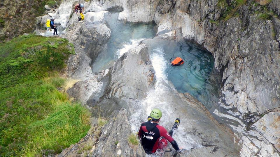 Canyon d'Estat avec le Bureau des Guides des Pyrénées Ariégeoises