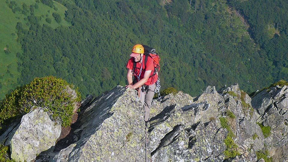 Escalade - Dent d'Orlu - Face Est - Bureau des Guides Ariège Pyrénées - 2
