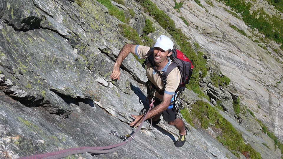 Escalade - Dent d'Orlu - Face Est - Bureau des Guides Ariège Pyrénées - 3