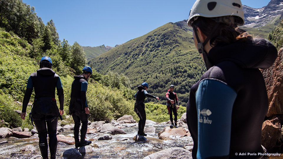 Canyon-de-l'Artigue-Equilibre-Bureau-des-Guides-Ariege-Pyrenees