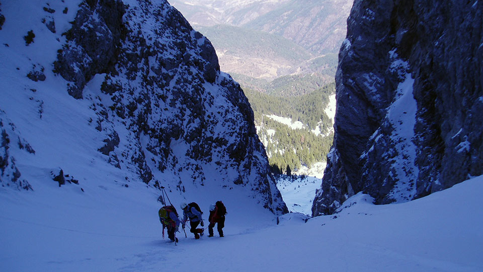 Alpinisme Hiver - Sierra de Cadi - Couloirs - Bureau des Guides Ariège Pyrénées - 5