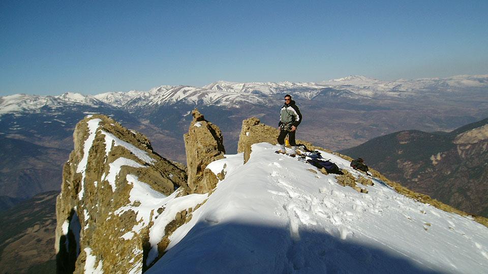 Alpinisme Hiver Sierra de Cadi - Couloirs - Bureau des Guides Ariege Pyrenees Niveau 4