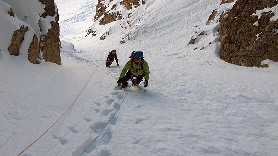 Alpinisme Hiver - Couloir des Pyrénées - Bureau des Guides des Pyrénées Ariégeoises - 4