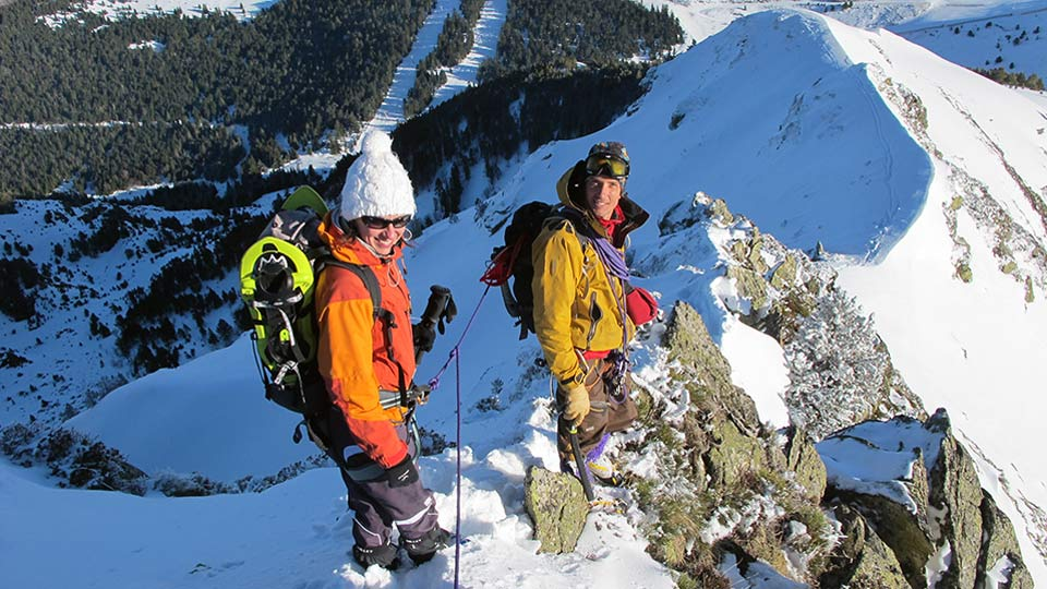 Alpinisme Hiver - Mes premiers pas d'alpiniste à Ax 3 Domaines - Bureau des Guides Ariège Pyrénées - 7