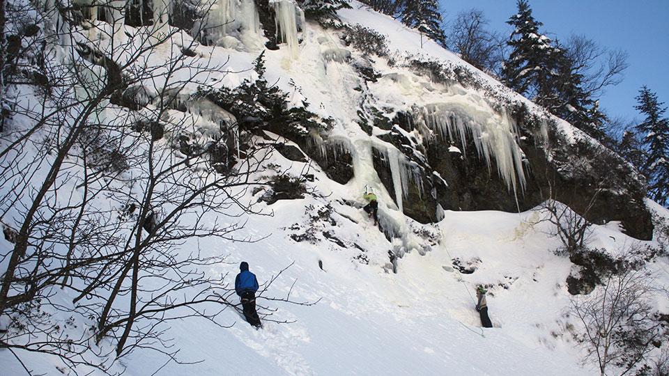 Cascade du Touyre Initiation avec le Bureau des Guides des Pyrénées Ariégeoises