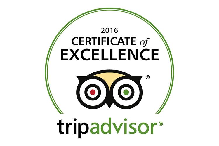 Logo Certificat Excellence Tripadvisor 2016