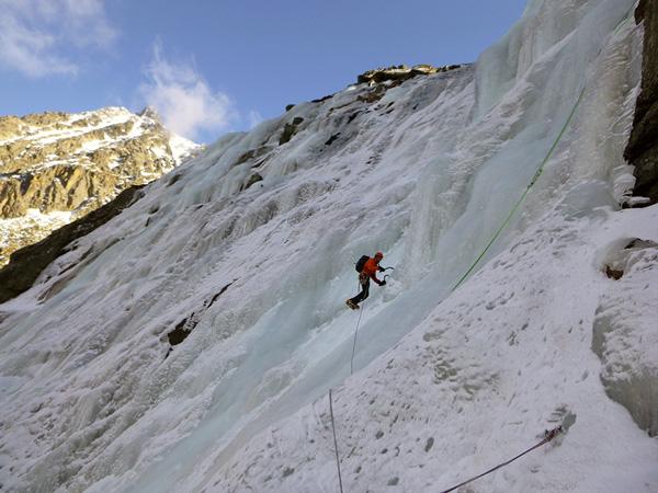 Cascade de glace en Ariège Conditions météo cascade du Rulhe