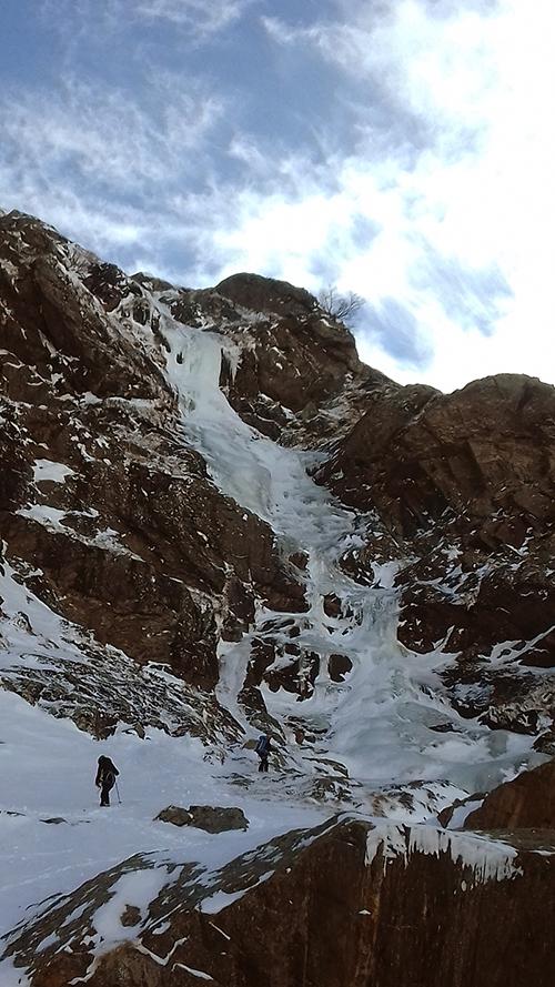 Conditions cascaded e glace à Soulcem avec Simon guide du Bureau des guides