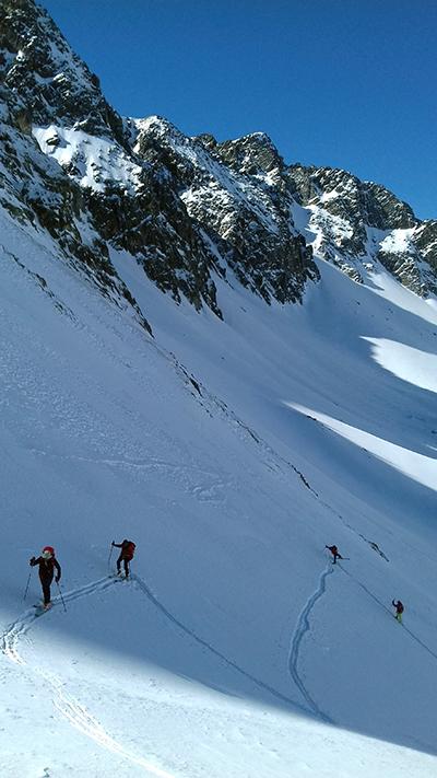 Conditions ski de rando - montée en conversions - guides ariège pyrénées