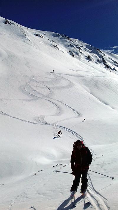 Conditions ski de rando - autour de la mine - guides ariège pyrénées