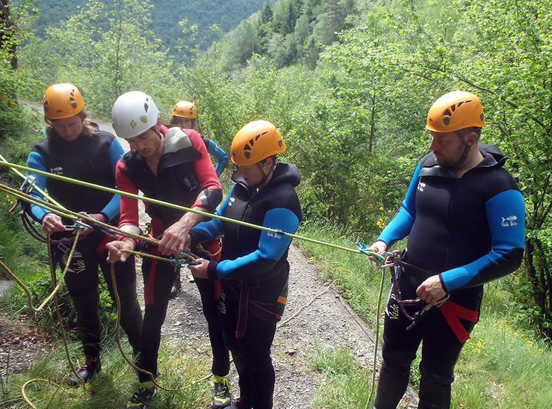 Article sur l'activité canyon au Bureau des Guides Ariège Pyrénées