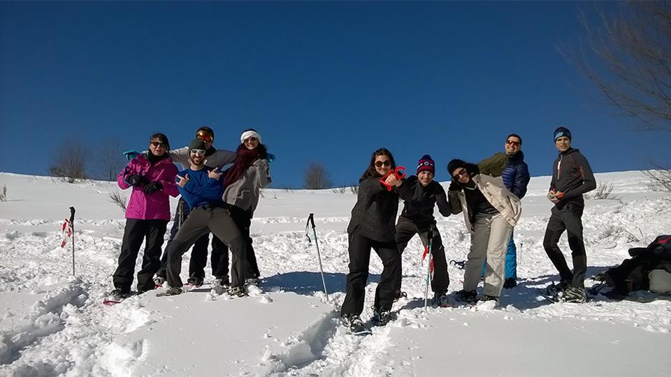 Multi-activité pour les groupes - Olympiades nordiques avec le Bureau des Guides Ariège Pyrénées sur le secteur du Chioula