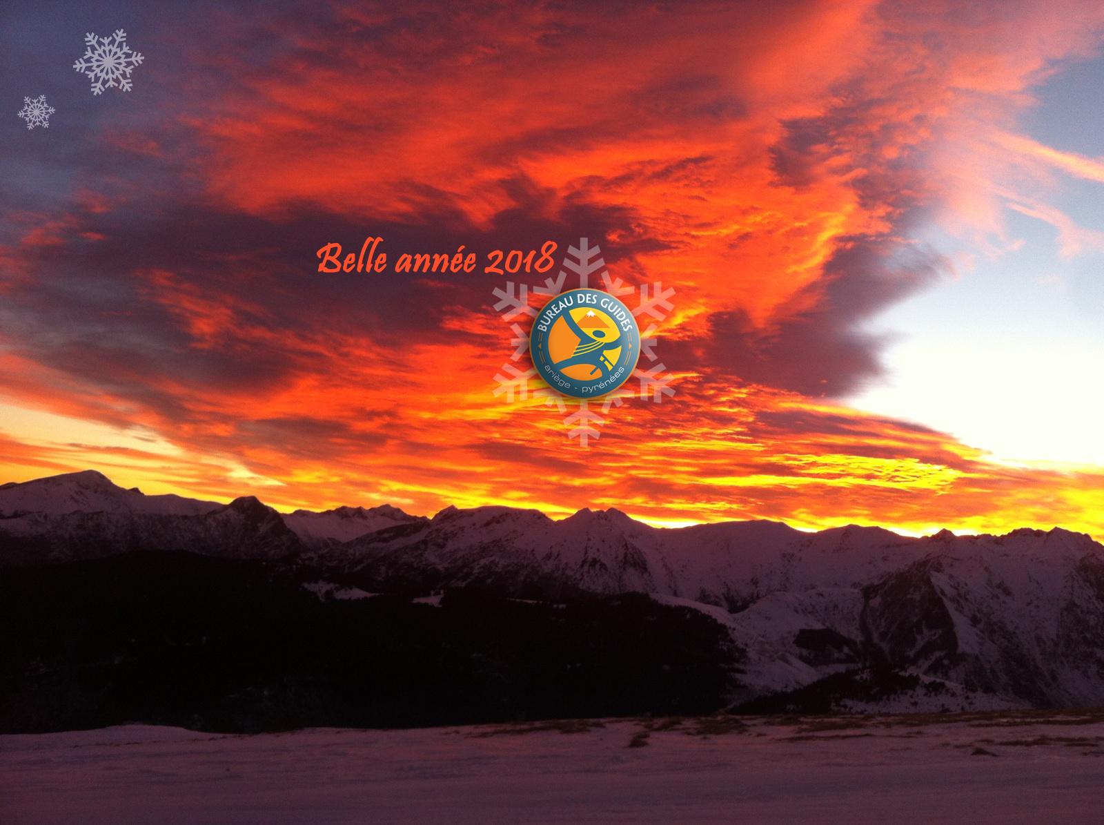 Carte de voeux 2018 - Bureau des Guides Ariège Pyrénées