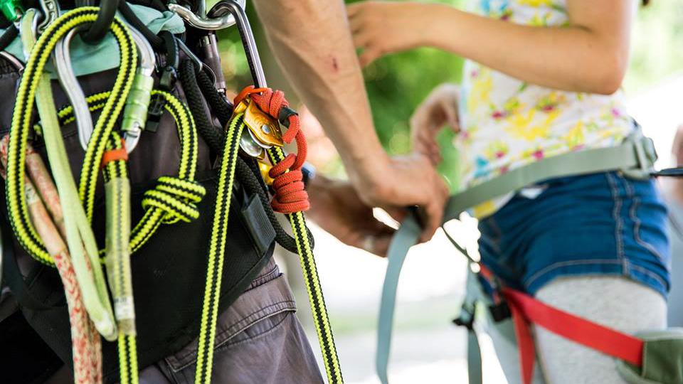 Initiation aux techniques de grimpe d'arbres - guides ariege pyrenees